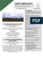 March-April 2009 Willapa Whistler Newsletter Willapa Hills Audubon Society