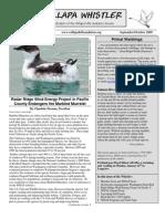 September-October 2009 Willapa Whistler Newsletter Willapa Hills Audubon Society