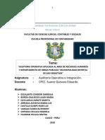 Auditoria Operativa a La Municipalidad de San Sebastian