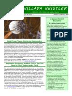 January-February 2010 Willapa Whistler Newsletter Willapa Hills Audubon Society