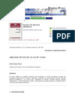 Clase 29 Ramos Analisis Critico de La Ley N 19.585