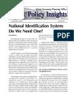 PI 2005-12 - National Identification System - Do We Need One.pdf