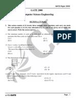 GATE CS 2000 Actual Paper