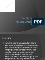 Tonsilitis Membranosa Ppt