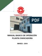 Manual Basico de Operacion de Planta Chancadora