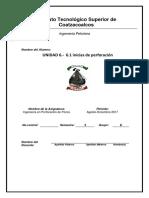 Inv.6.1 Inicias de Perforacion