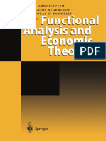 Functional analysis and economic theory