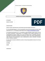 Carta de envío de Clave y Usuario al aula virtual 2018