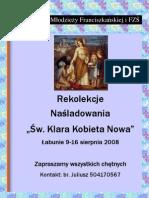 Plakat Rekolekcji MF