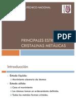 Principales estructuras cristalinas metálicas