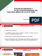 PPT Denuncias y procedimiento de la PNP frente a la violencia contra la mujer e IGF 27062018.pptx