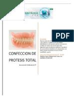SECUENCUA DE CONFECCION DE PROTESIS COMPLETA - SS