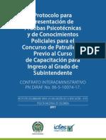 Protocolo de Aplicacion Concurso - Ingreso Grado Subintendente 2017