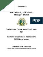 CBCS Syllabus For BCA Kashmir University