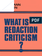 Norman Perrin - What is Redaction Criticism