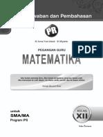 05 Kunci Jawaban Dan Pembahasan PR MAT 12 IPS