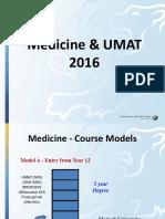 UMAT Parent Information Evening 2016