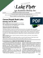 June 2010 Lake Flyer Newsletter Winnebago Audubon Society