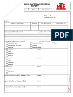WI-PST-14-01 - Incoming Material Inspection Report