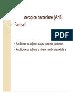 ANTIBIOTICE PARTEA 2 FARMACOLOGIE