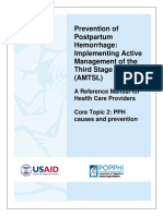 B23. Pathophysiology of Postpartum