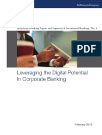 McKinsey_CIB_WP8_Leveraging the Digital Potential in Corporate Banking_2015