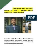 RNM User Kajal Kanti Dey's Photo & Tortured in Kolkata ,India 22/07/18
