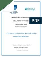 Constitución Del Psiquismo en Discapacidad