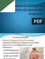 Tratament Cu Aerosoli in Afectiuni Ale Apararului Respirator