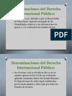 Denominaciones Del Derecho Internacional Pгblico