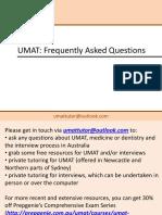 UMAT FAQ