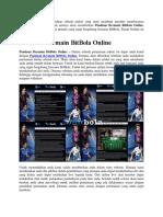 Panduan Bermain BitBola Online
