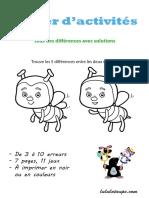 Cahier Jeux Des Differences