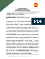 Deber 1 Informe Ejecutivo Investigacion Cientifica en Universidades