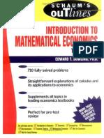 Schaum's Introduction to Mathematical Economics -- 532