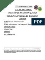 Informe de Introduccion a La Ing. q.