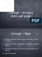 Concept How to Scrape Static Web Pages