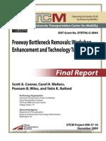 Freeway Bottleneck Removals Workshop