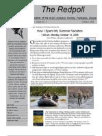 October 2008 Redpoll Newsletter Arctic Audubon Society