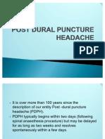 Post Dural Puncture Headache