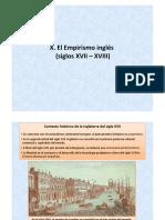 El empirismo inglés (siglos XVII - XVIII)