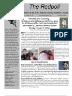 February 2009 Redpoll Newsletter Arctic Audubon Society