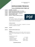 Especificaciones Tecnicas Gimnasio Electricas