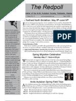 April 2009 Redpoll Newsletter Arctic Audubon Society