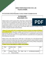 Eligibility Criteria CU JHD 2