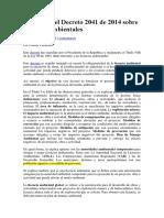 Resumen Decreto 2041 de 2014 Licencias Ambientales (Leído)