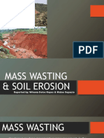 MASS WASTING AND SOIL EROSION