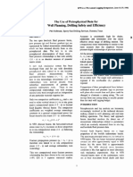 The Use of Petrophysical Data for Well Planning, Drilling Safety and Efficiency