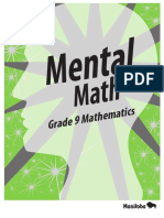 309385155 Mental Math Grade 9