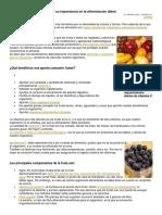 Las Frutas Para Investigacion Hace